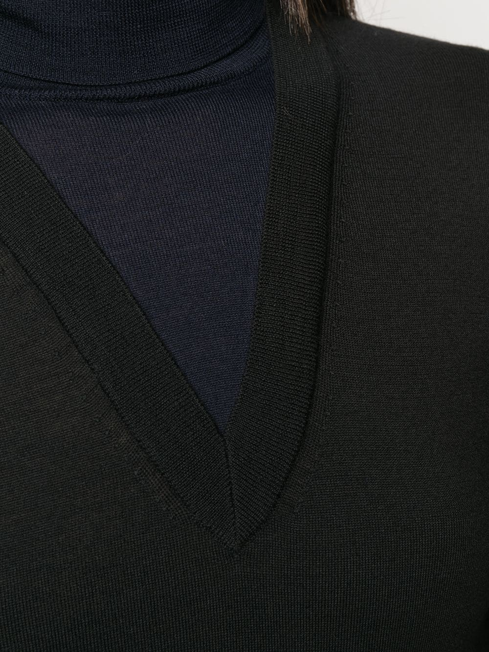 Maglia collo alto DRIES VAN NOTEN | Felpa | TEVIN 8701BLACK
