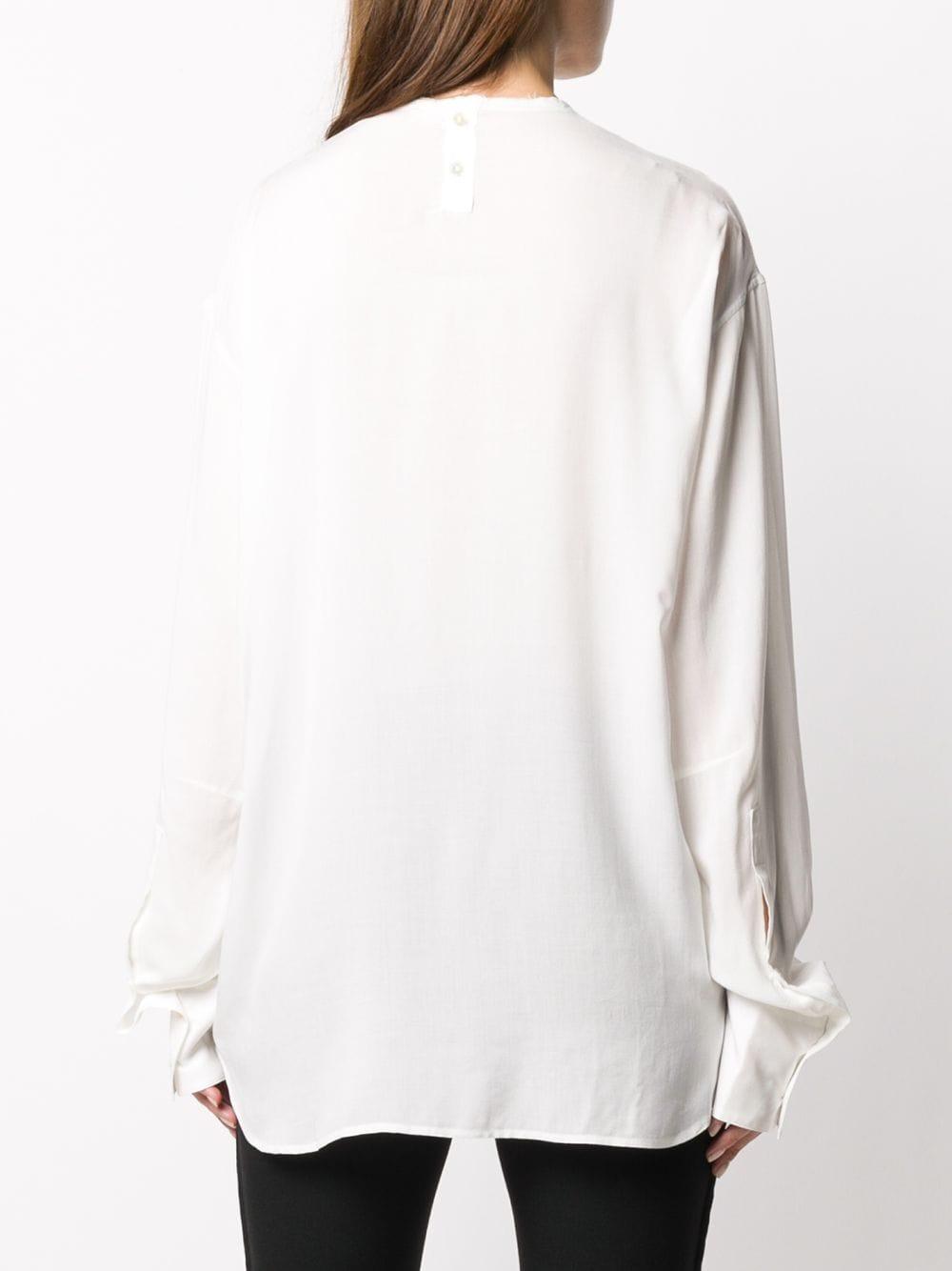 Camicia girocollo con vestibilità morbida ANN DEMEULEMEESTER | Camicia | 2002-2030-119002