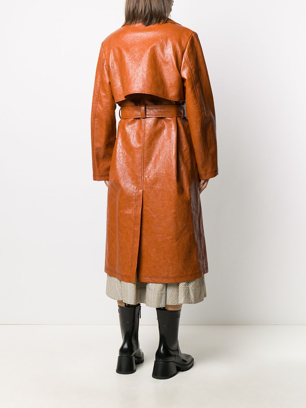 Double-breasted coat in faux leather MSGM |  | MDC0620767028