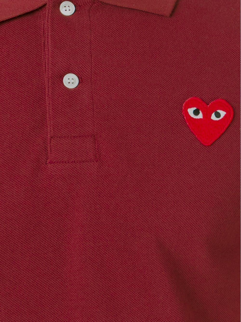 Polo con applicazione cuore PLAY COMME DES GARCONS | Polo | P1T0063