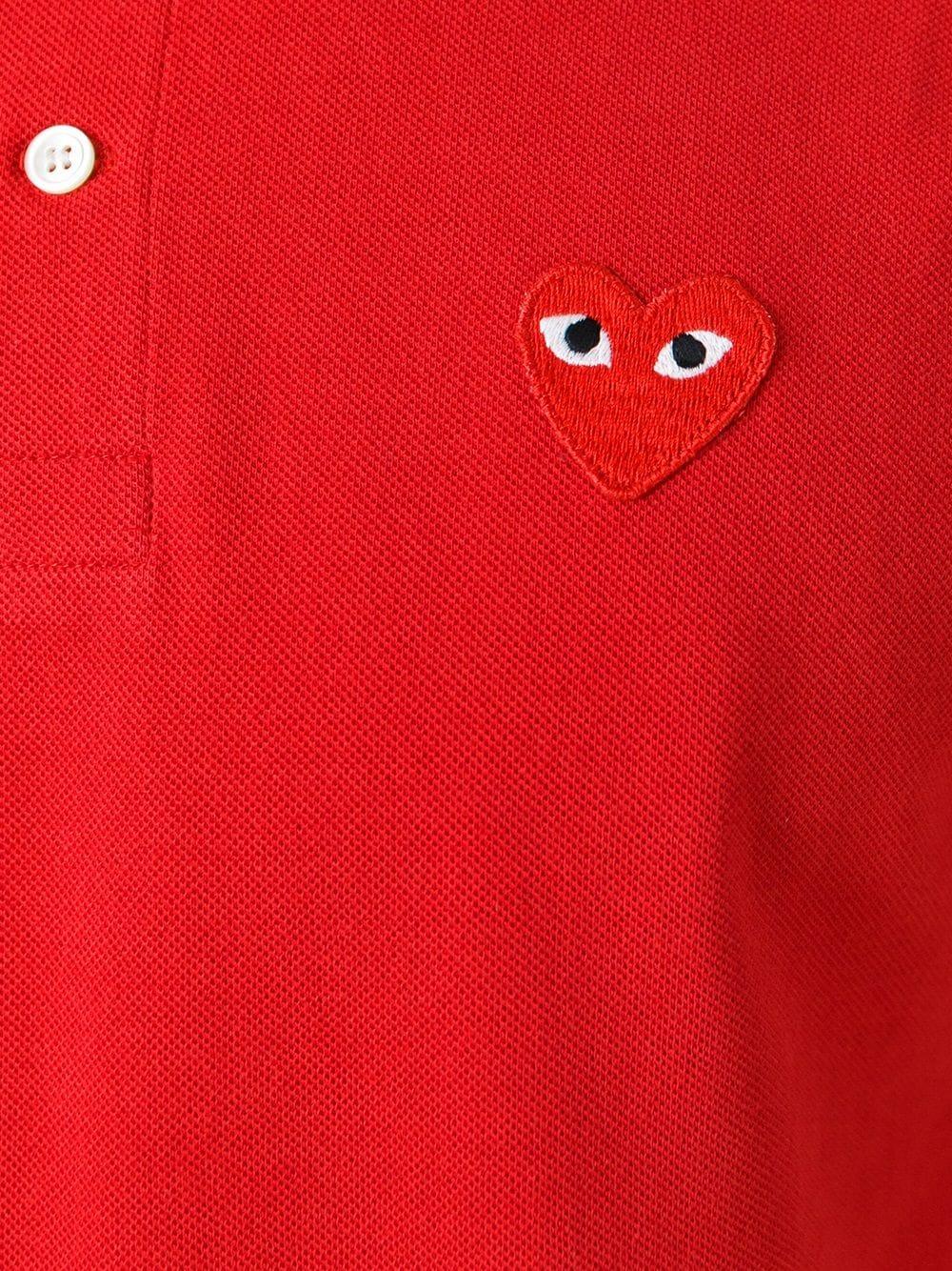 Polo con applicazione cuore PLAY COMME DES GARCONS | Polo | P1T0064