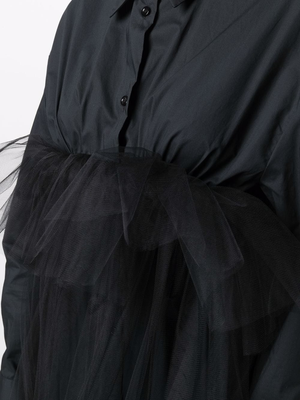 abito camicia con tulle Act n.1 | Abito | PFD211103