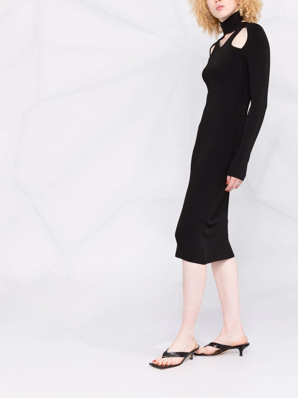 abito in maglia con collo ad incrocio COPERNI | Abito | COPP21ML16600BLACK