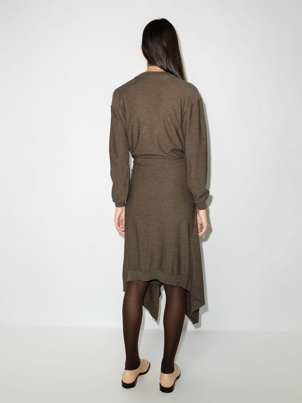 abito in maglia con cardigan in vita LEMAIRE | Abito | W213KN609LK087130