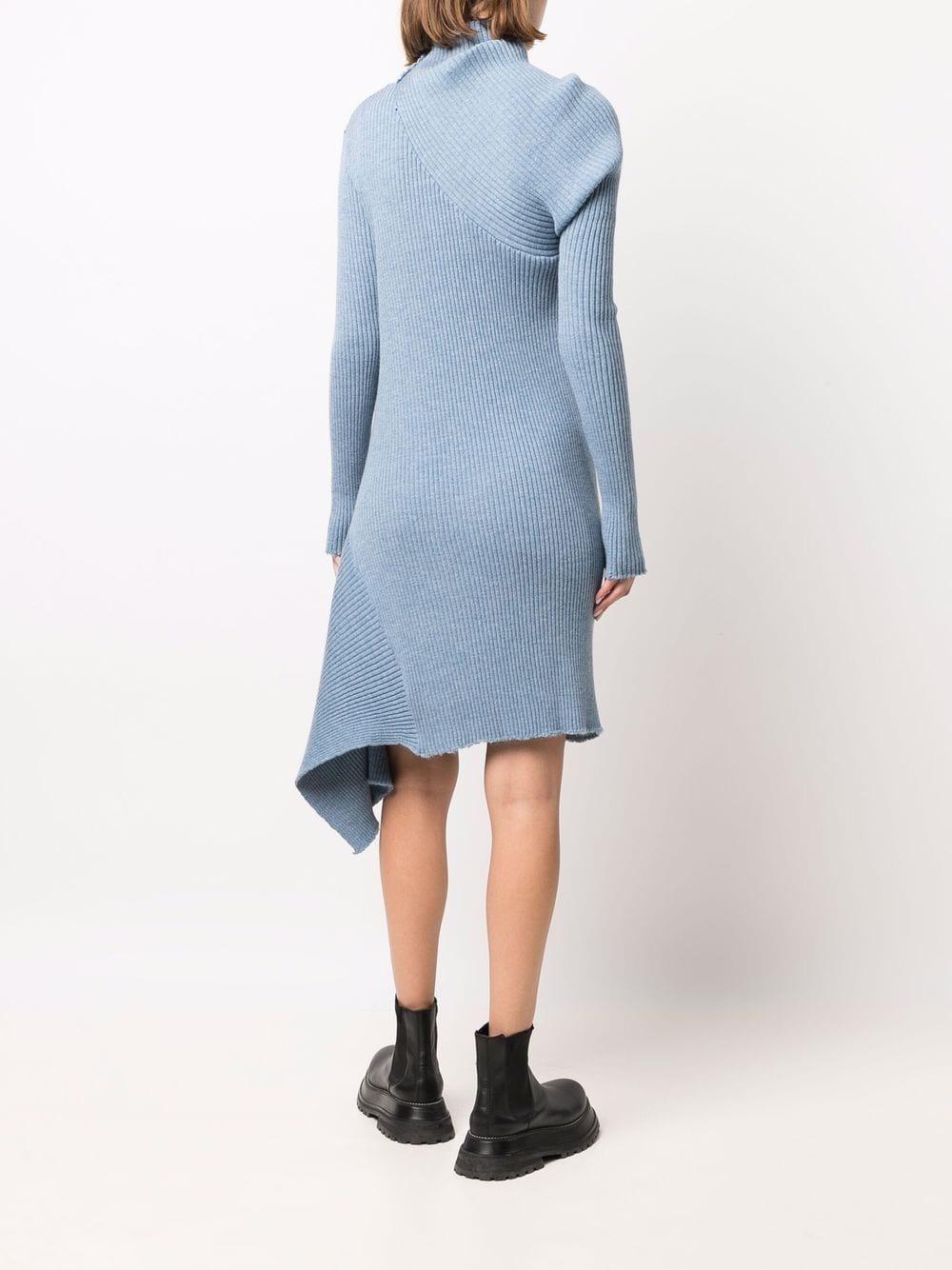 abito asimmetrico in maglia MARQUES ALMEIDA | Abito | KN0050MKNLIGHT BLUE