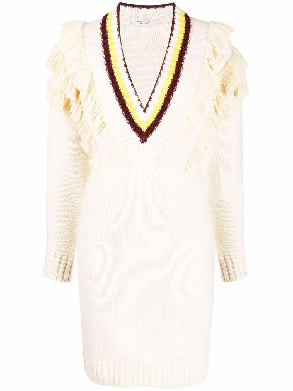 abito in maglia scollo a V PHILOSOPHY di LORENZO SERAFINI | Abito | A048371021003