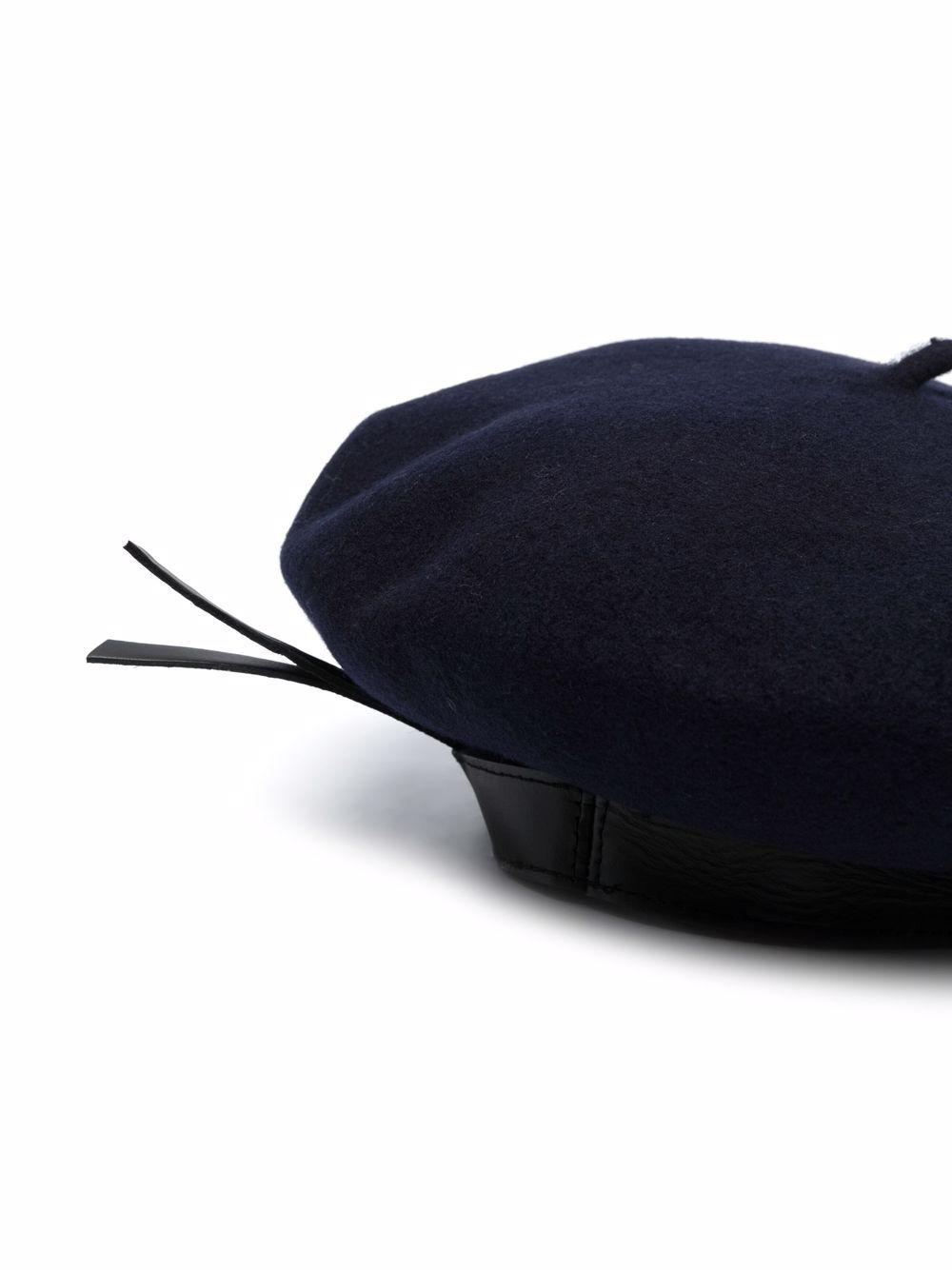 basco con bordo in pelle PHILOSOPHY di LORENZO SERAFINI | Cappello | A360571931510