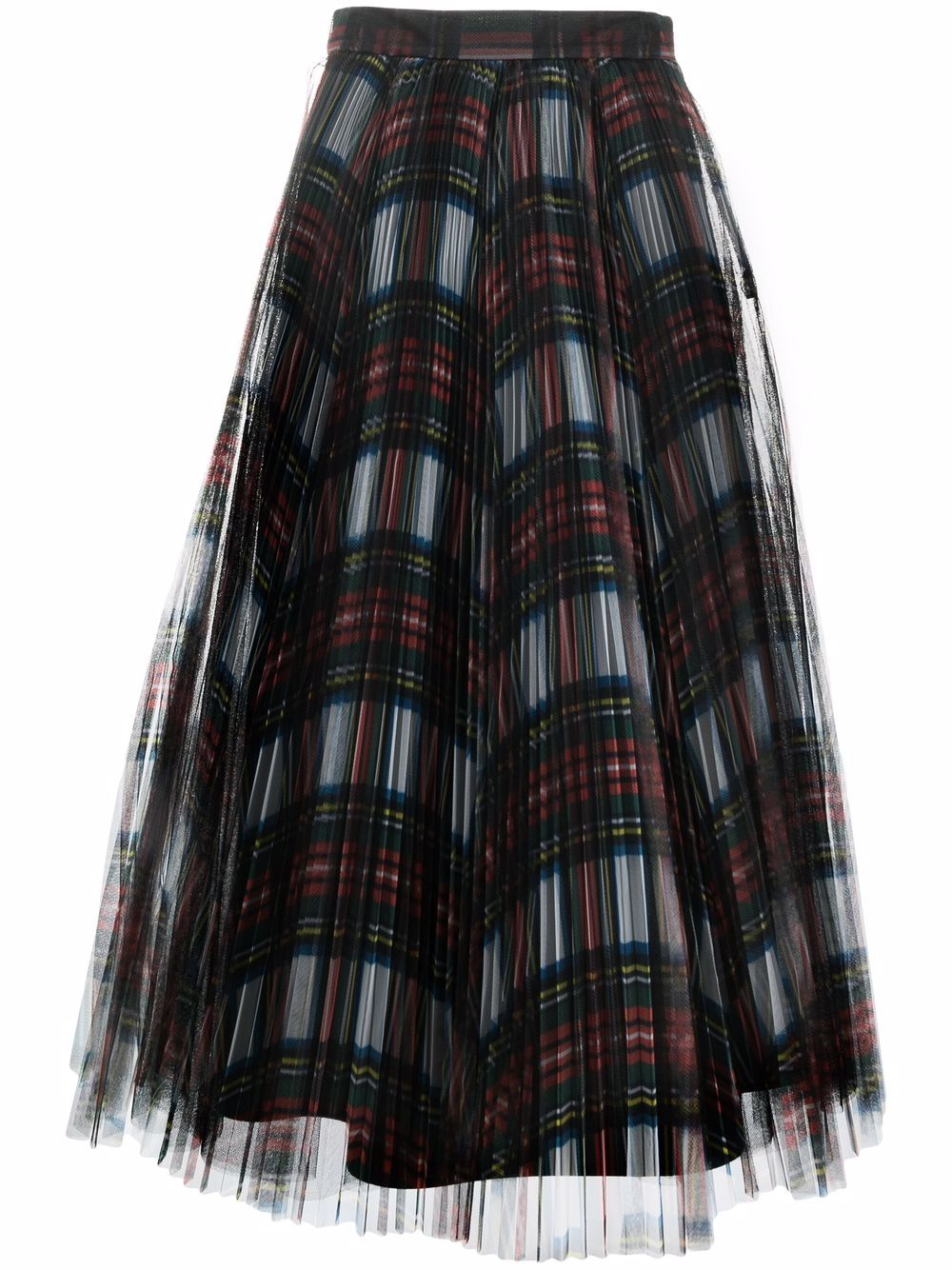 gonna plissettata in tulle scozzese PHILOSOPHY di LORENZO SERAFINI | Gonna | V010657151115