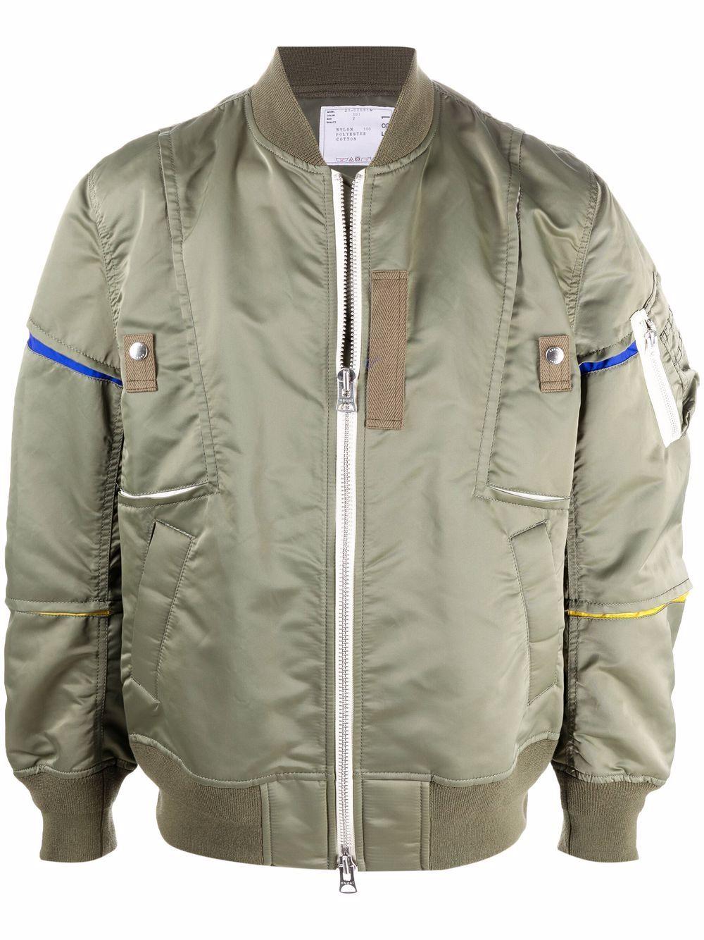 bomber jacket con intarsi colorati SACAI | Giubbotto | 21-02581M501
