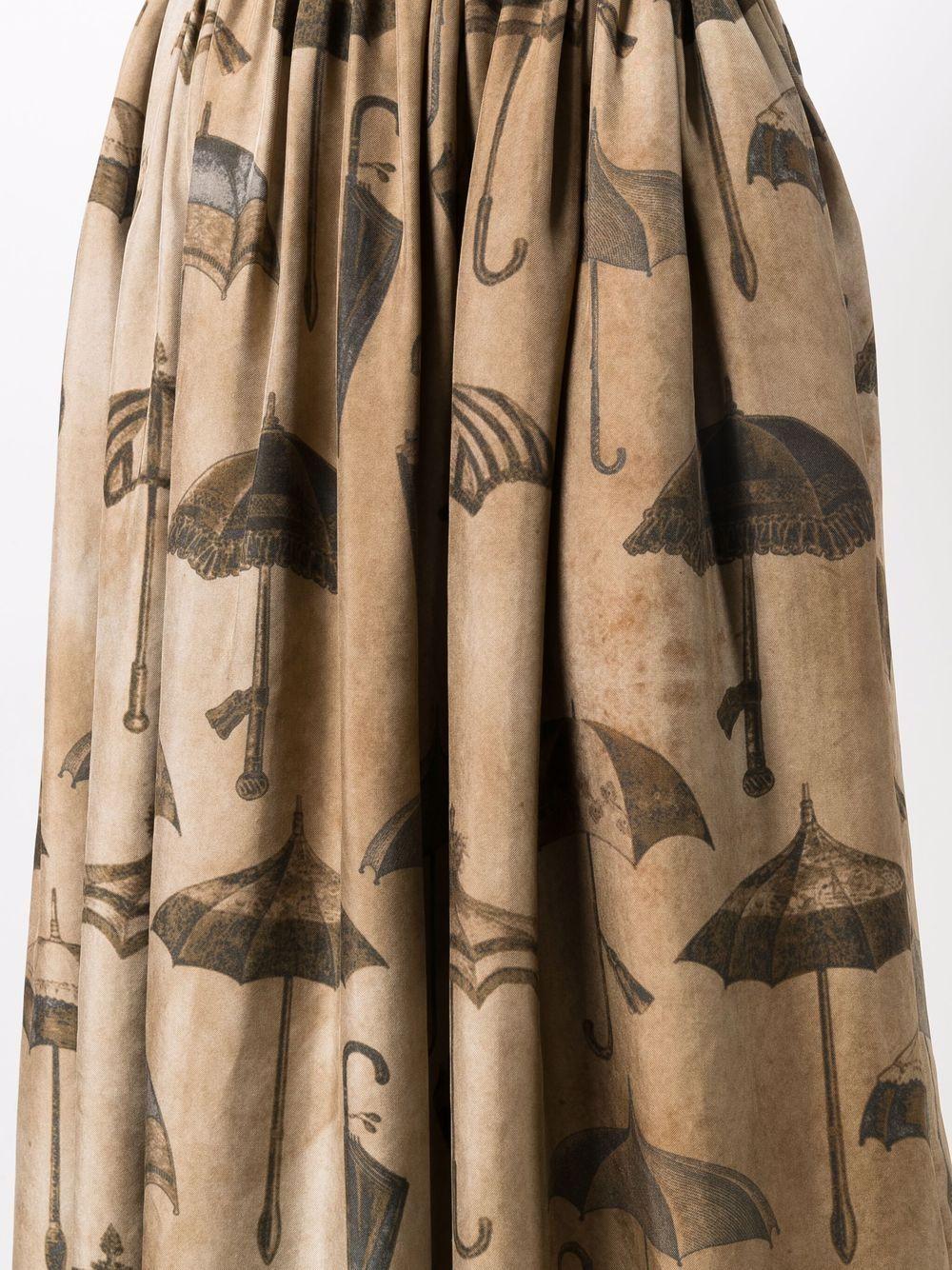gonna con elastico in vita stampa ombrelli UMA WANG | Gonna | UP2001UW809