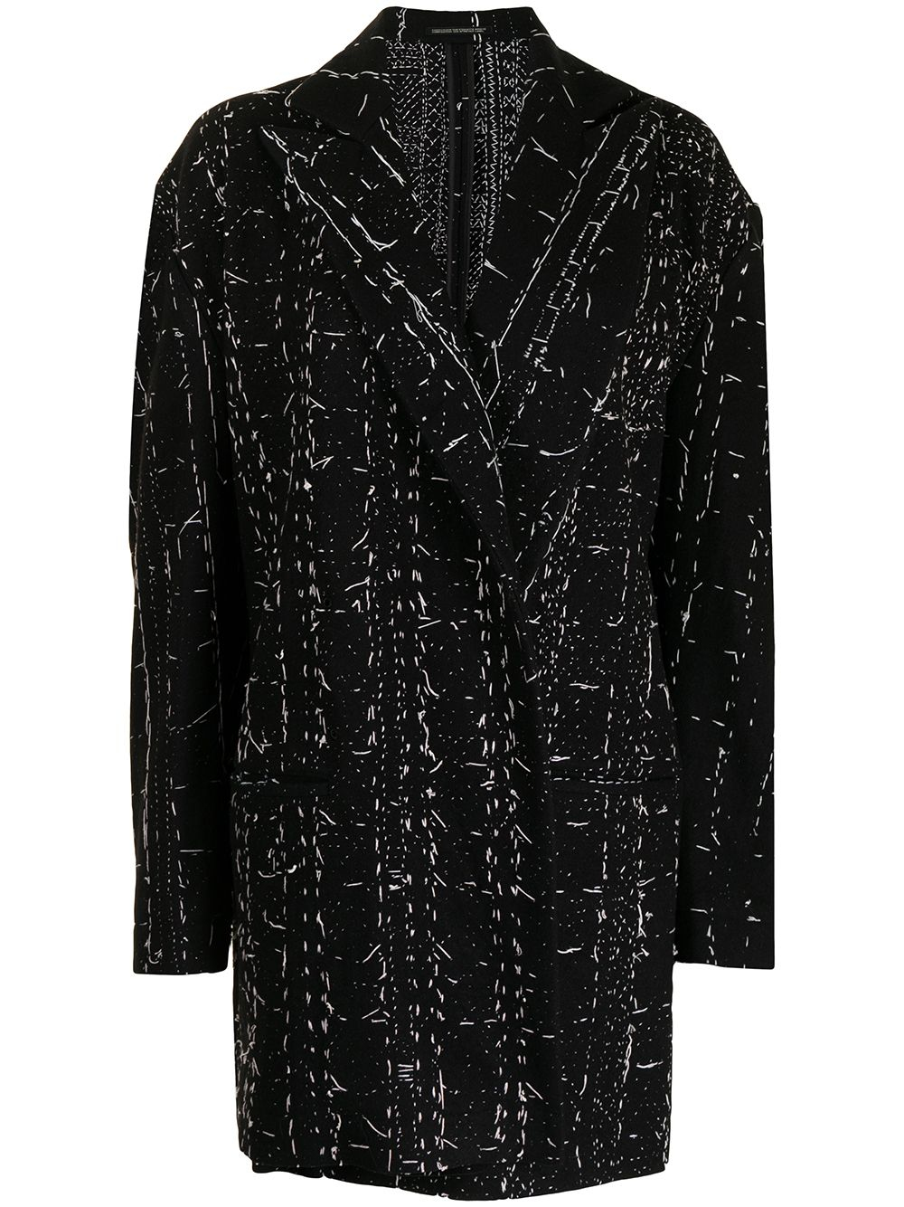 giacca oversize con impunture cucite a mano YOHJI YAMAMOTO   Giacca   FX-J03-1121