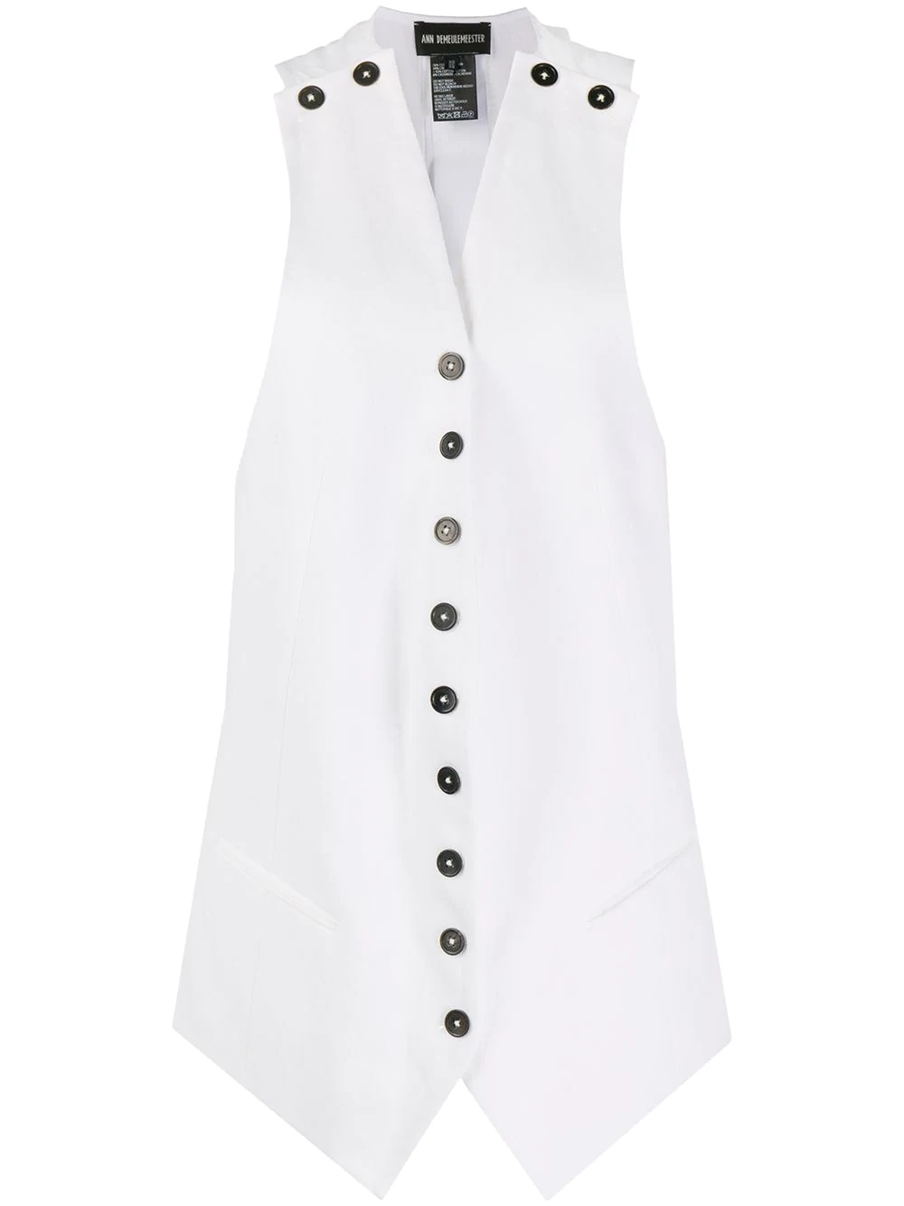 Gilet lungo bianco ANN DEMEULEMEESTER | Cappotto | 2001-1152-P-195001