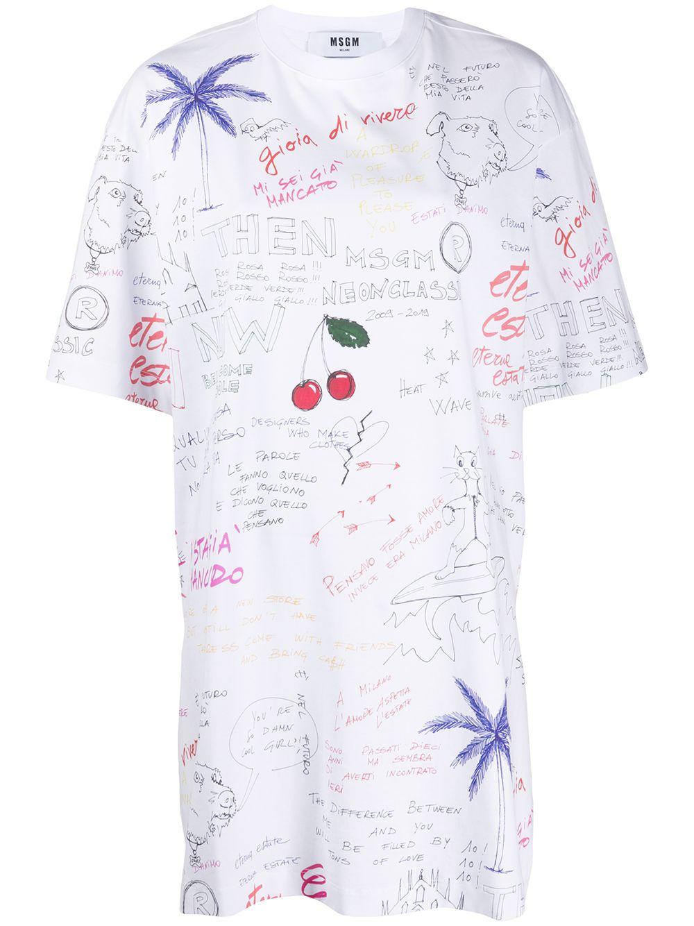 Abito modello T-shirt con stampa MSGM | Abito | A161 20749801