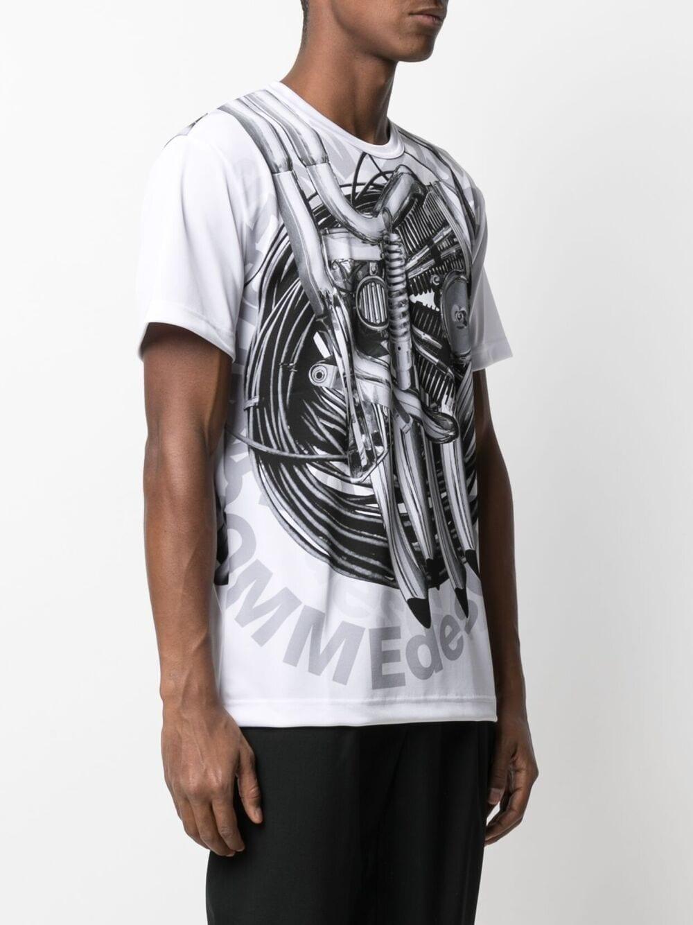 t shirt in poliestere con stampa e logo COMME DES GARCONS Homme Plus | T-shirt | PG-T015-0511