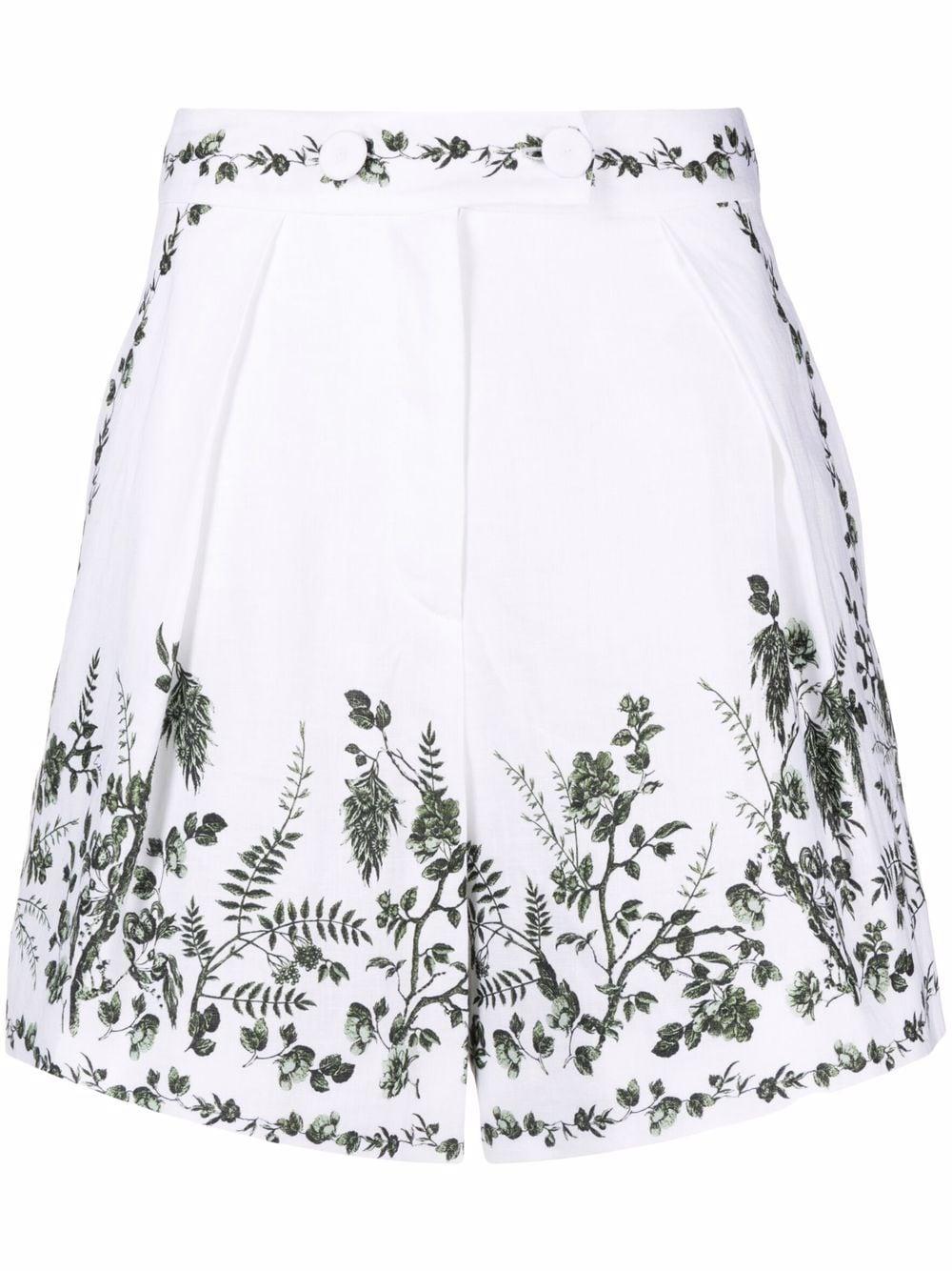 ERDEM   Shorts   6247WFLWHITE/GREEN