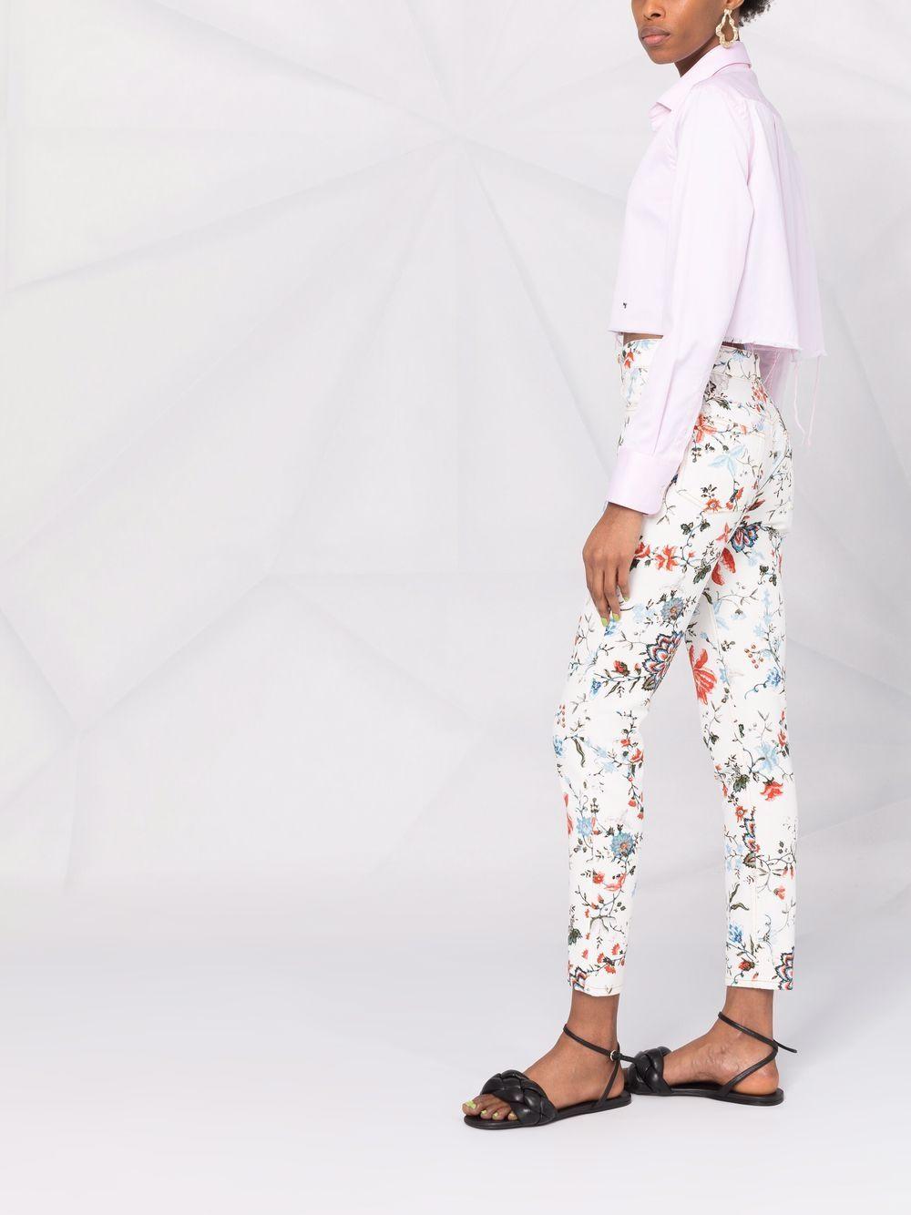 jeans skinny fiorato ERDEM | Jeans | 6278CGDWHITE/MULTI