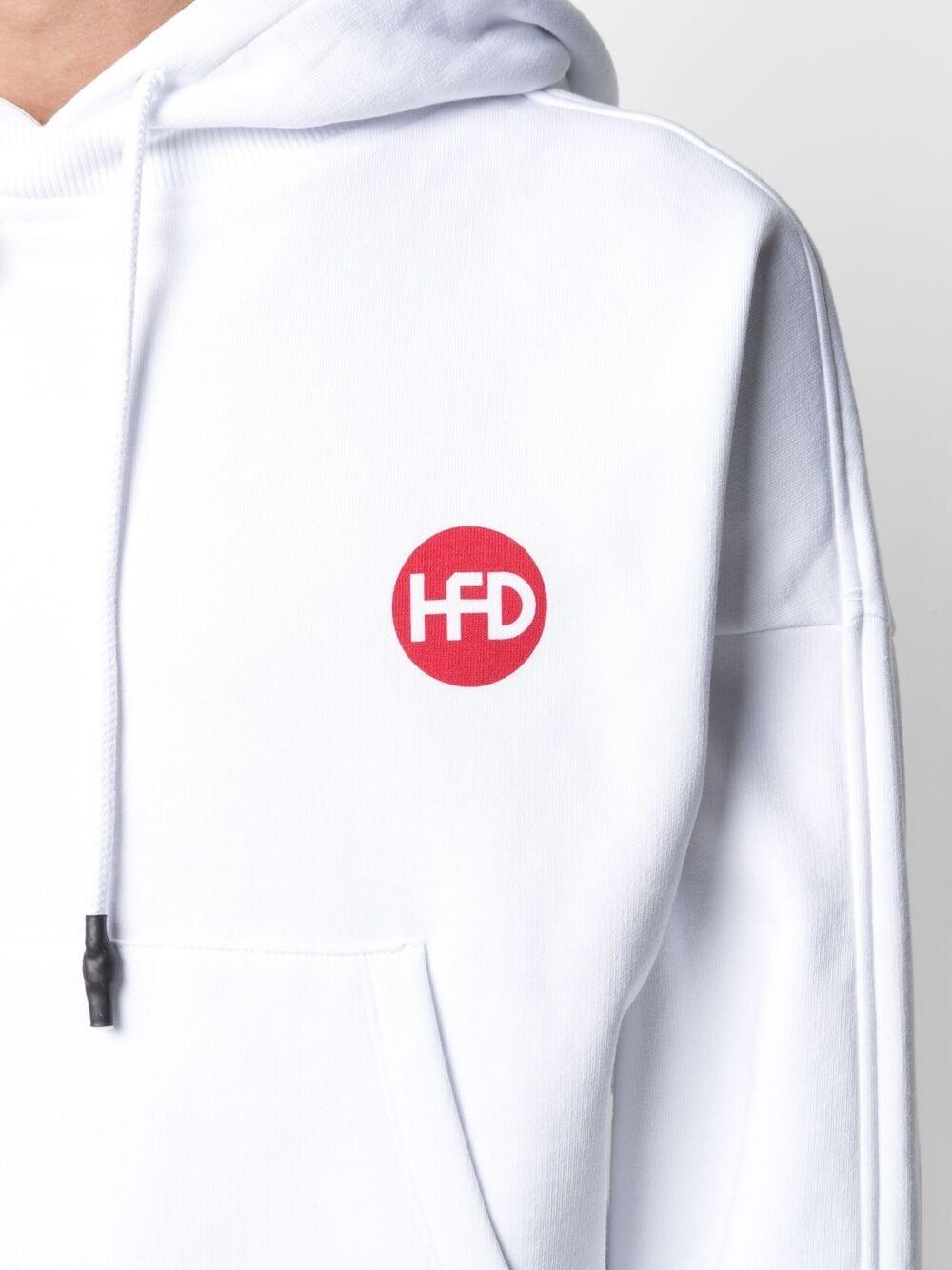 Felpa unisex con stampa logo e cappuccio con coulisse HONEY FUCKING DIJON | Felpa | HFD03T0223