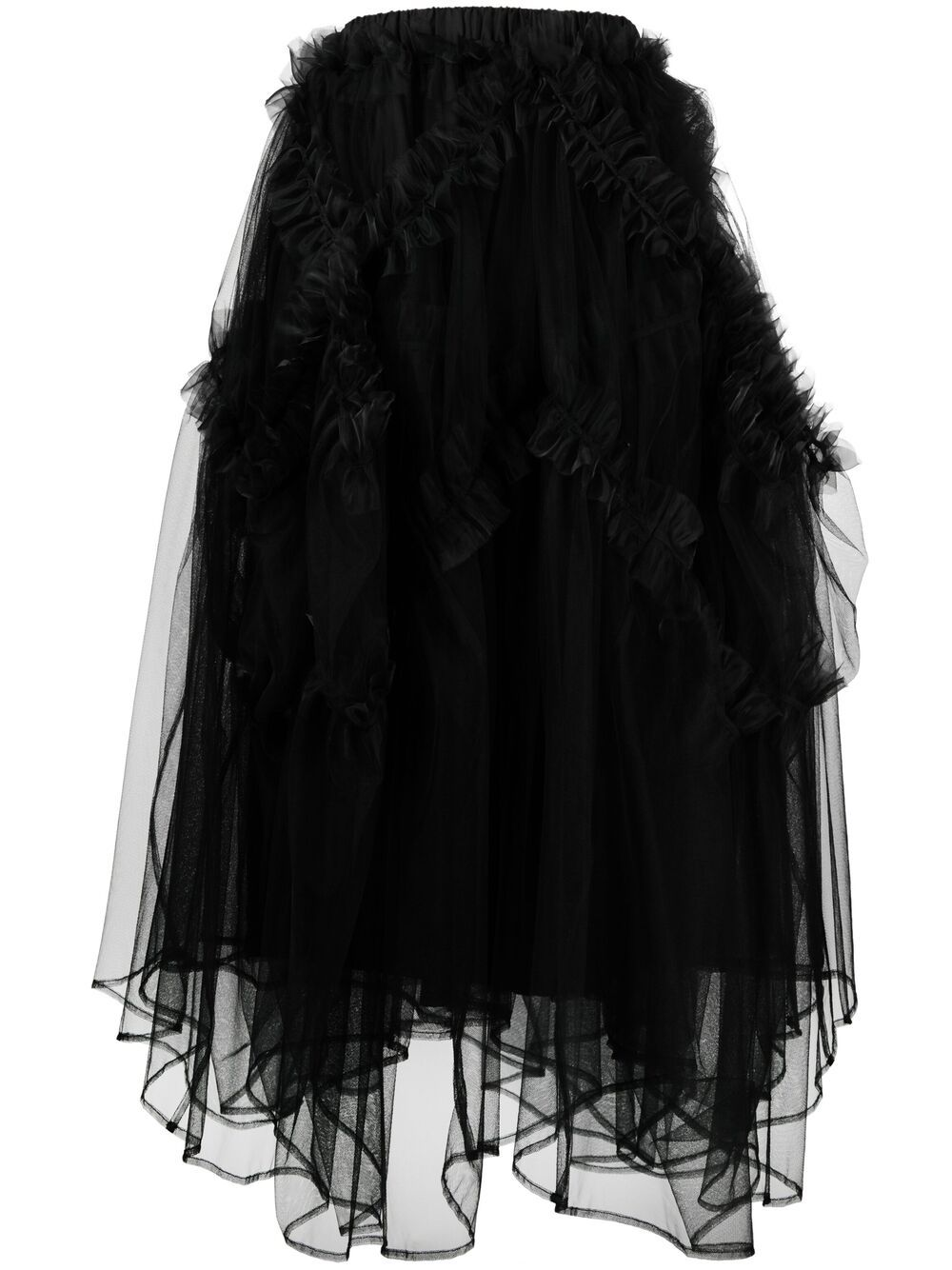 Gonna in tulle con ruches NOIR KEI NINOMIYA | Gonna | 3G-S002-0511