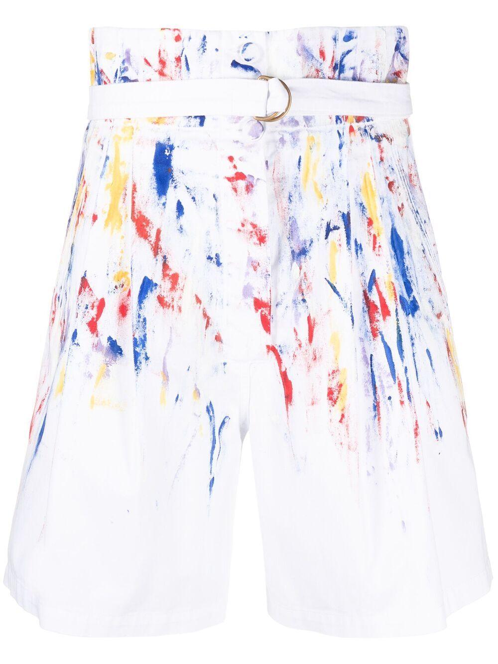 shorts vita alta pitturato a mano PHILOSOPHY di LORENZO SERAFINI   Shorts   A032021311888