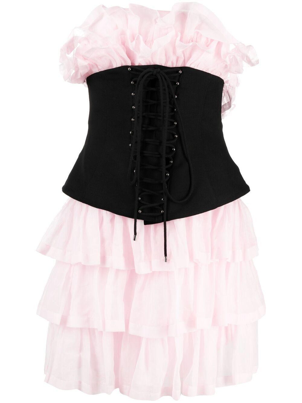 Abito corto con corsetto PHILOSOPHY di LORENZO SERAFINI | Abito | A041421221224