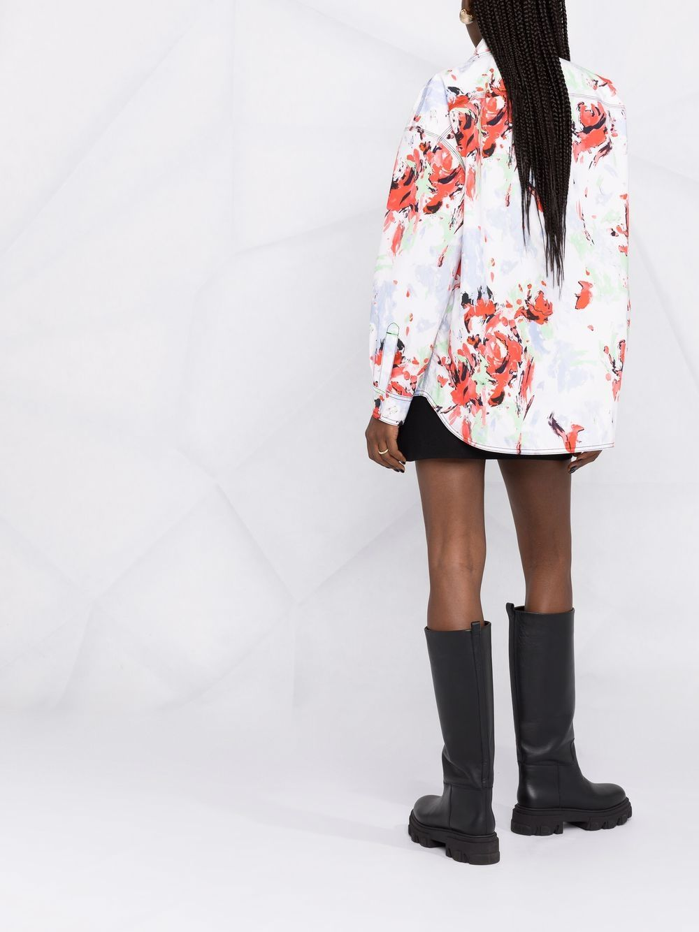 camicia oversize con stampa fiori PHILOSOPHY di LORENZO SERAFINI | Giacca | A050721411111