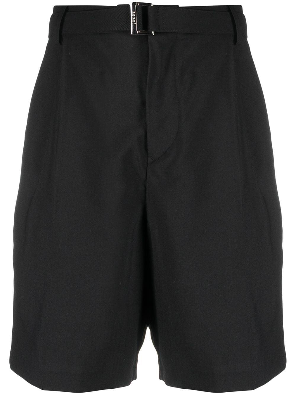 Shorts con cintura e fasce laterali in raso SACAI | Shorts | 21-02462M001