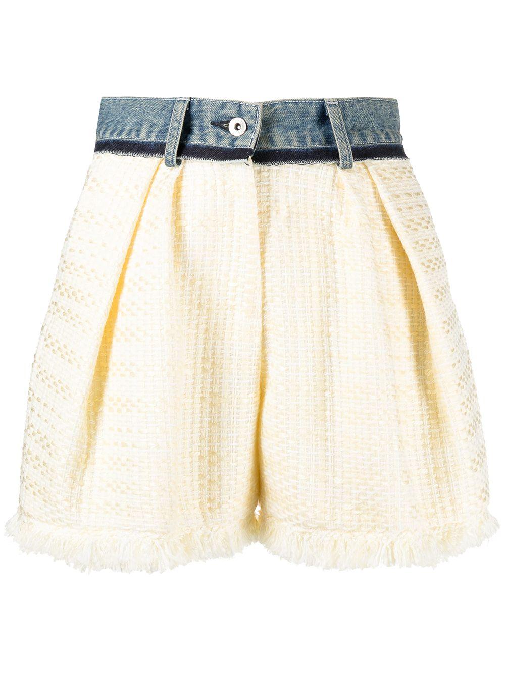 Shorts a vita alta con orlo sfrangiato SACAI   Shorts   21-05428454