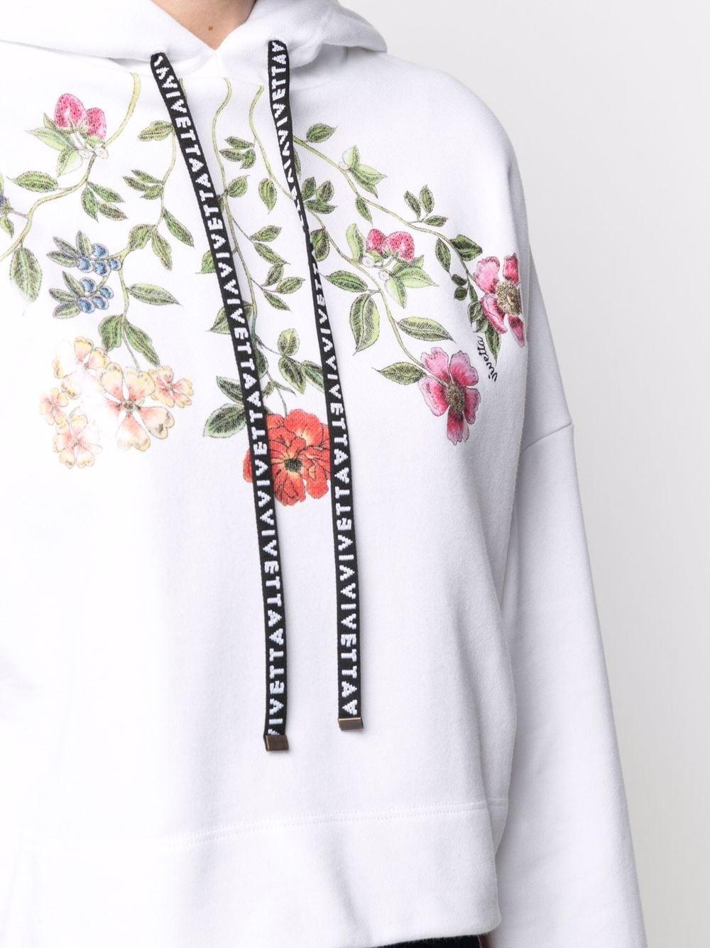 felpa oversize corta con stampa fiori VIVETTA | Felpa | E011-69541101