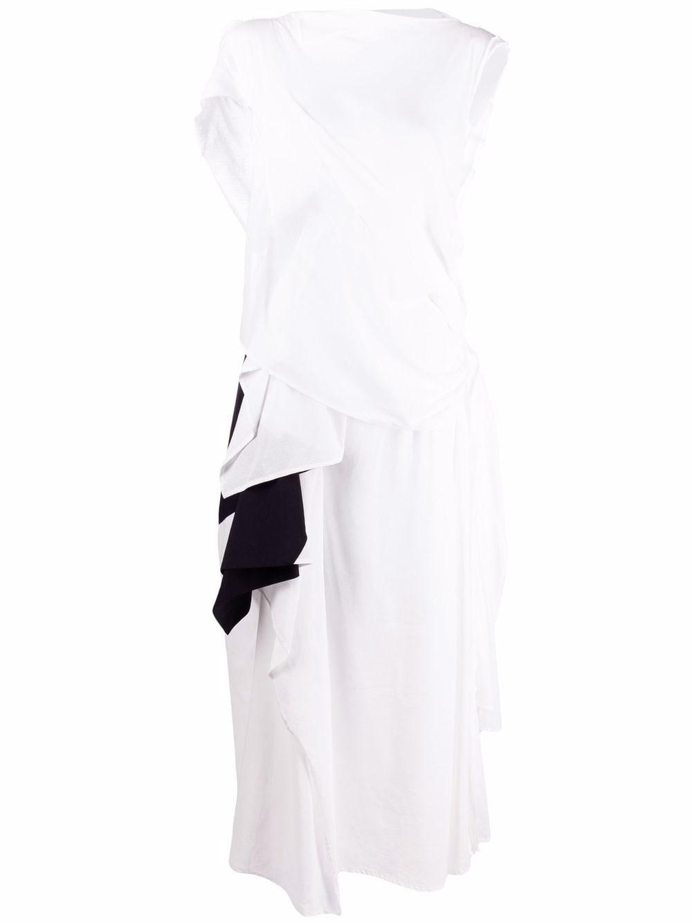 abito lungo bicolore YOHJI YAMAMOTO | Abito | FD-D20-8051