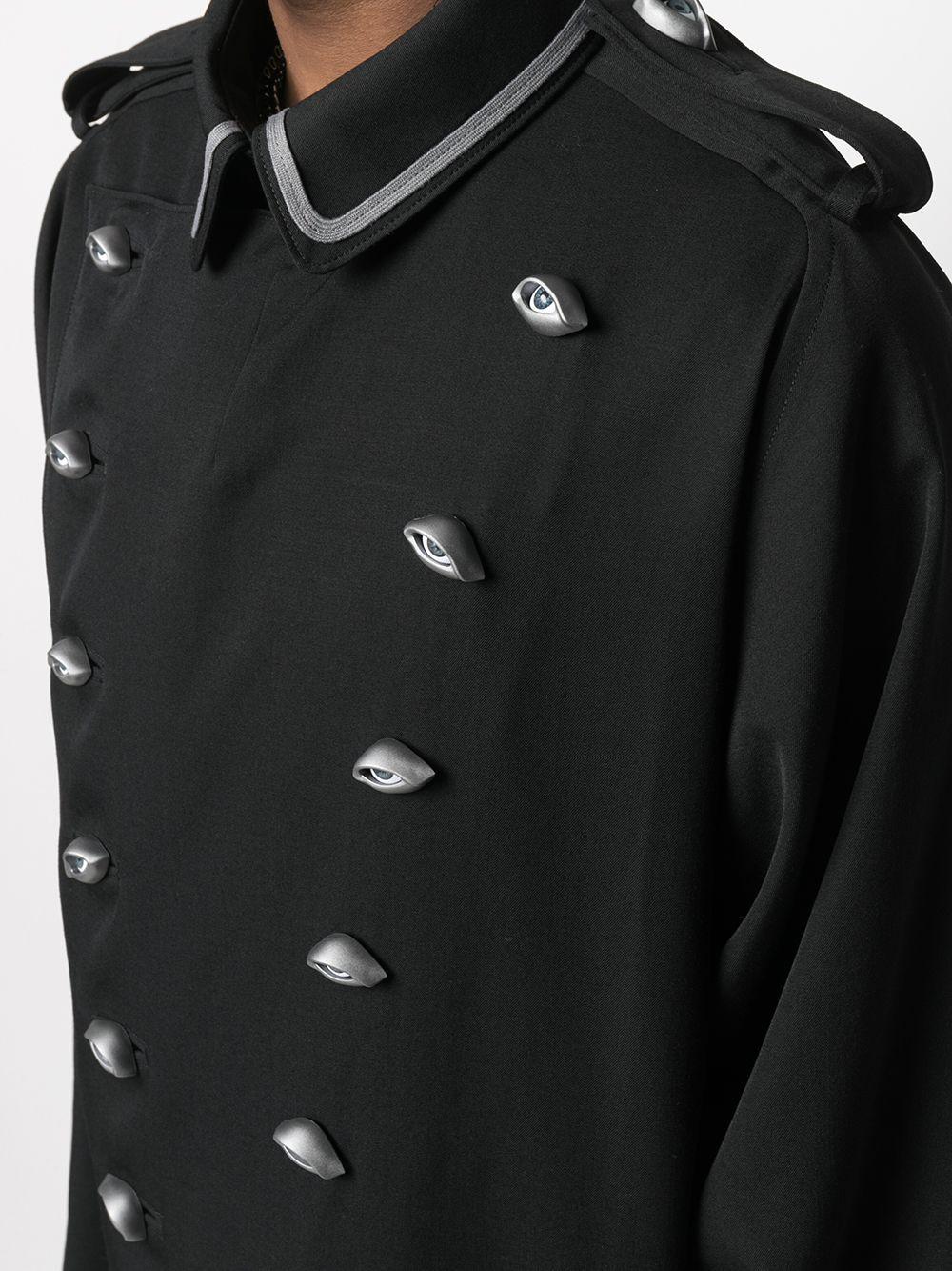 Cappotto con bottoni a forma di occhi YOHJI YAMAMOTO | Cappotto | HD-D08-1002