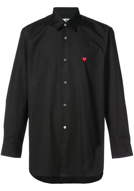 Camicia classica con applicazione cuore PLAY COMME DES GARCONS | Camicia | P1B0121