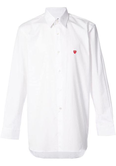 Camicia classica con applicazione cuore PLAY COMME DES GARCONS | Camicia | P1B0122