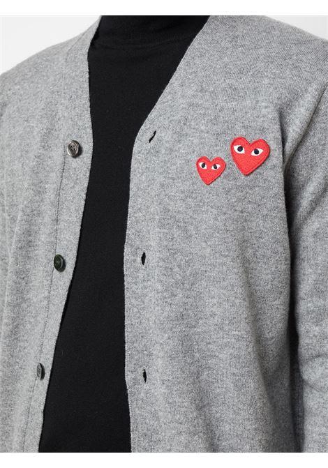 Cardigan con applicazioni cuoricini PLAY COMME DES GARCONS | Cardigan | P1N0721