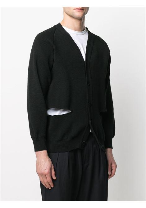 Cardigan unisex, scollo a V BLACK COMME DES GARCONS | Cardigan | 1F-N501-0521