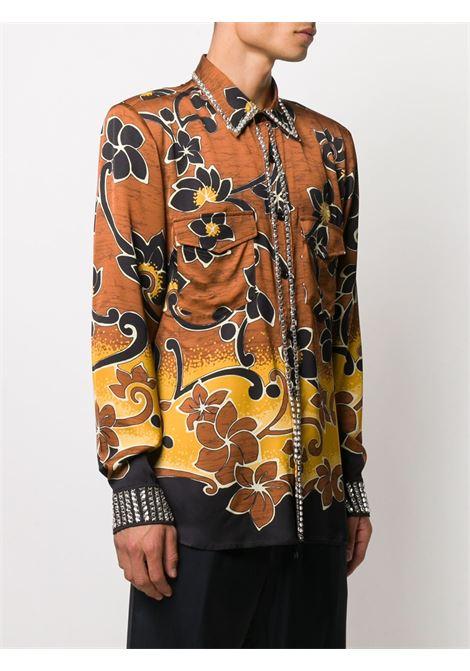 Camicia con fantasia floreale e strass DRIES VAN NOTEN | Camicia | CALBROOMEMB1155203