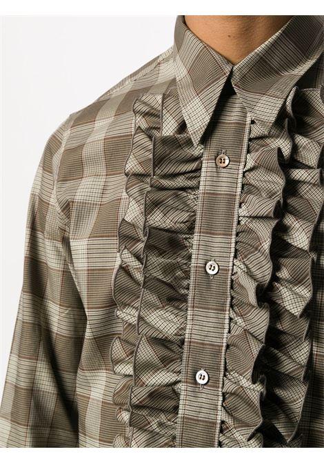 Camicia con stampa a quadri e ruches DRIES VAN NOTEN | Camicia | CAVILE1163703