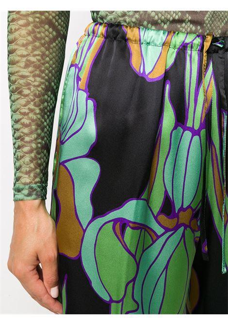 Pantalone in seta con stampa DRIES VAN NOTEN | Pantalone | PUVIS1135604