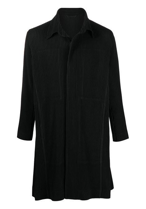 Cappotto monopetto plissettato HOMME PLISSE | Cappotto | HP08FA00615