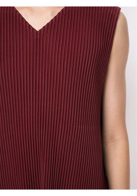 T-shirt smanicata plissettata HOMME PLISSE | T-shirt | HP08JK14083