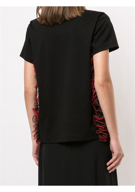 T-shirt con ruches NOIR KEI NINOMIYA | Maglia | 3F-T004-0511