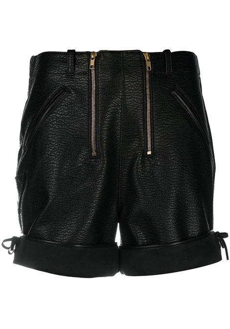Shorts neri in ecopelle PHILOSOPHY di LORENZO SERAFINI | Shorts | A03135742555