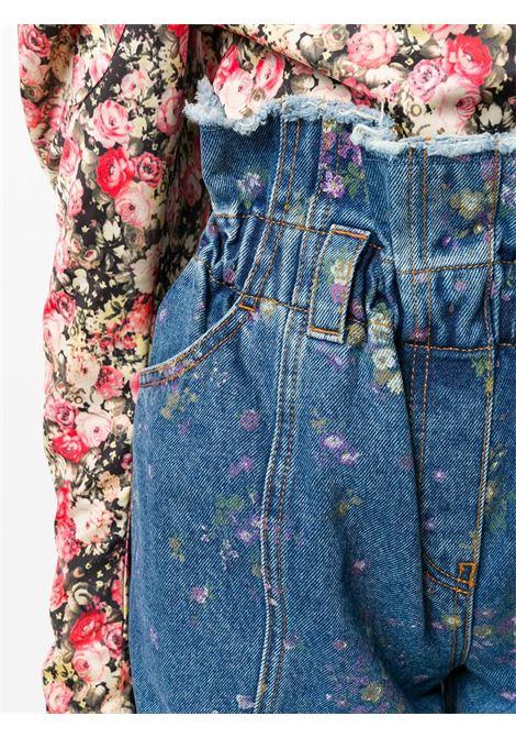 Shorts denim a fiori PHILOSOPHY di LORENZO SERAFINI | Shorts | A03275729290