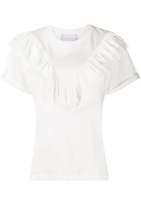 T-shirt con ruches PHILOSOPHY di LORENZO SERAFINI | T-shirt | A070757442