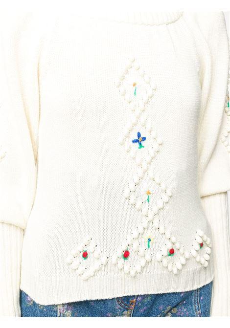Maglione con ricamo a fiori PHILOSOPHY di LORENZO SERAFINI | Maglia | A090357064