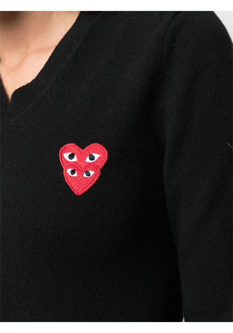 Maglioncino con applicazione logo ricamato PLAY COMME DES GARCONS | Pullover | P1N0731