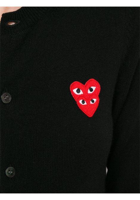 Cardigan con applicazione logo ricamato PLAY COMME DES GARCONS | Cardigan | P1N0751