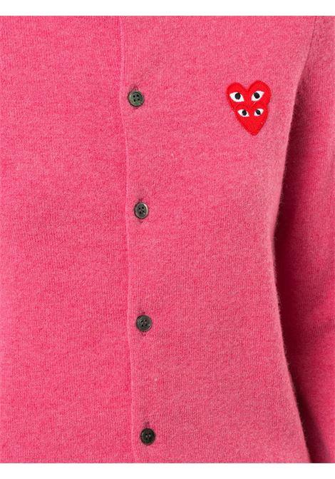 Cardigan con applicazione logo ricamato PLAY COMME DES GARCONS | Cardigan | P1N0754
