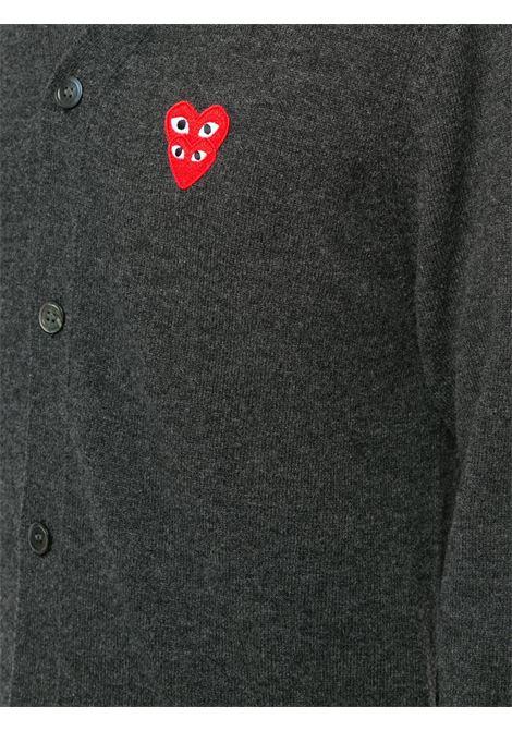 Cardigan con applicazione logo ricamato PLAY COMME DES GARCONS | Cardigan | P1N0762