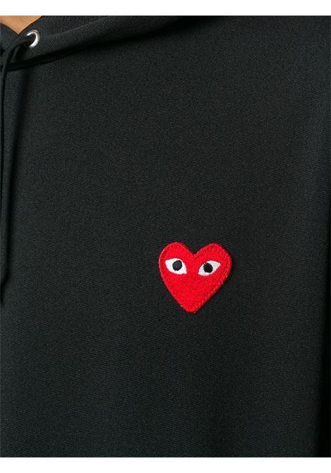 Felpa con applicazione logo ricamato PLAY COMME DES GARCONS | Felpa | P1T1741