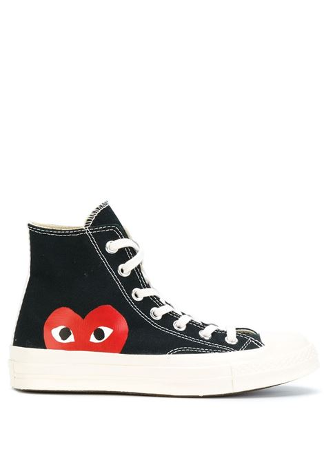 Sneakers a stivaletto con stampa cuore PLAY COMME DES GARCONS | Scarpe | AZ-K1121